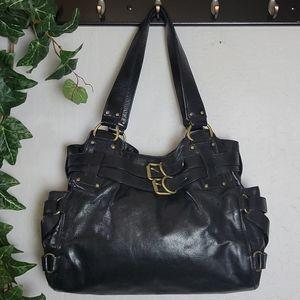 KOOBA Lena Handbag Purse Buckles Black